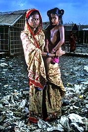 De allra värsta sanitära förhållandena finns i städernas slum. Bild från Wateraid.